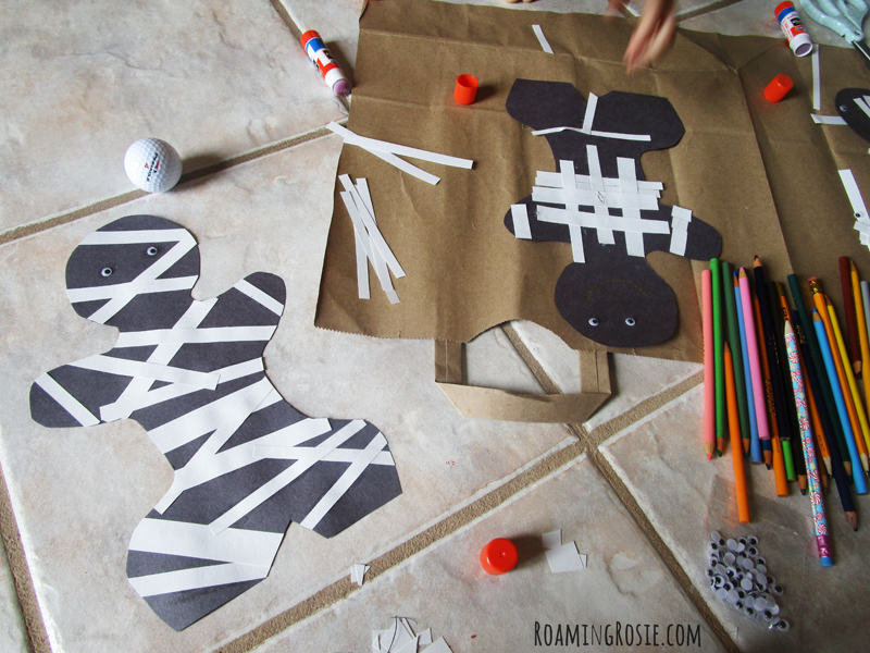 Halloween Construction Paper Mummy 4