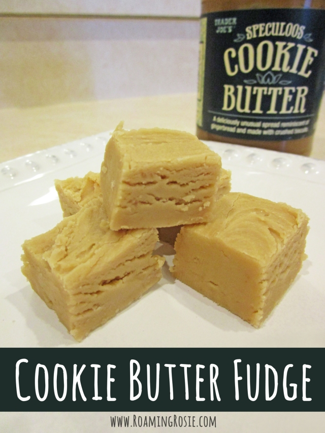 Cookie Butter Fudge Recipe from Roaming Rosie