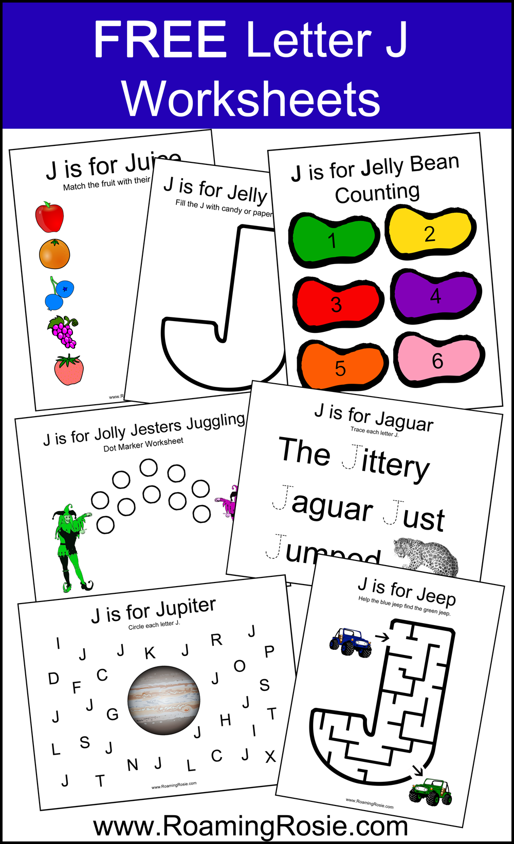 math worksheet : worksheets  roaming rosie : Letter J Worksheets Kindergarten