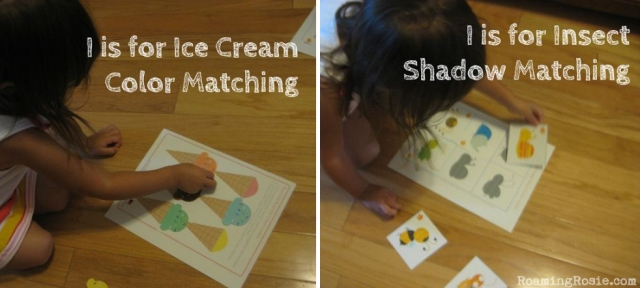 i is for ice cream color matching 2