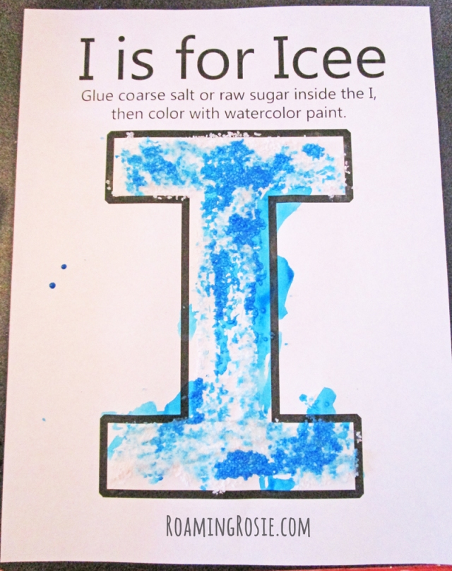 I is for Icee Alphabet Activity Printable Worksheet