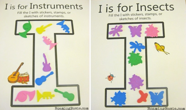 Letter I Insects and Instruments Worksheets Alphabet Activities with Roaming Rosie