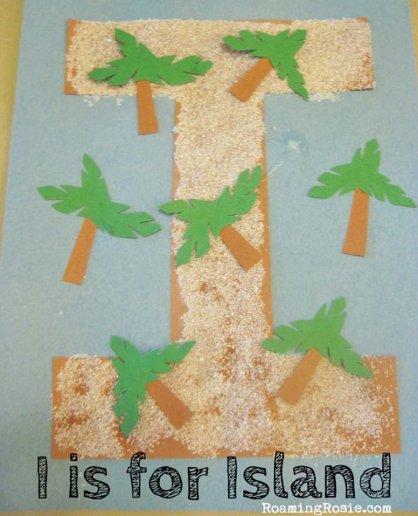 I is for Island Alphabet Activities with Roaming Rosie