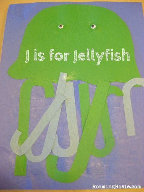 J is for Jellyfish Alphabet Activities from Roaming Rosie