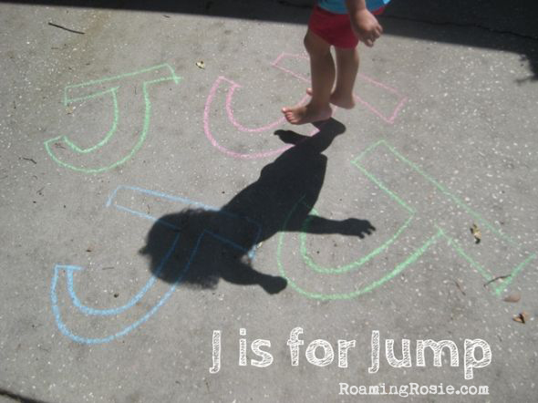 J is for Jump Alphabet Activities from Roaming Rosie