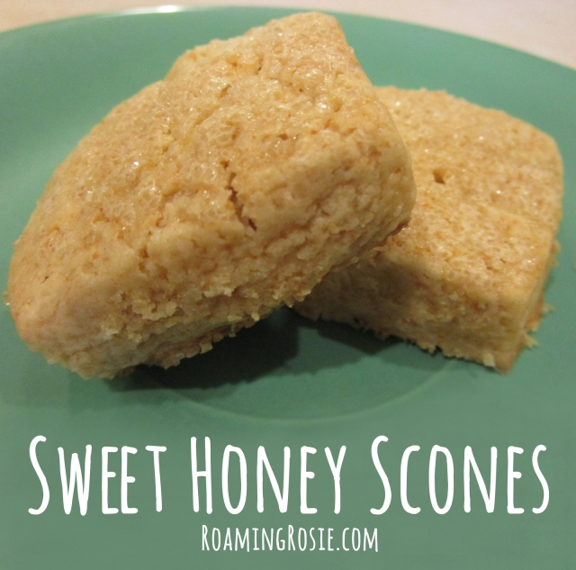 Sweet Honey Scones Recipe from Roaming Rosie