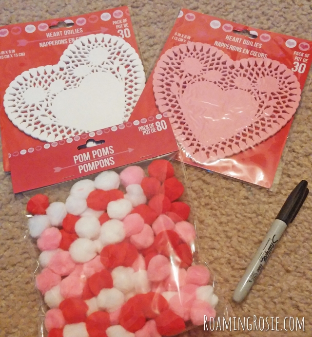 Valentines Day Heart Power Words Pom Pom Toss Game 2