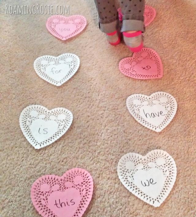 Valentines Day Heart Power Words Pom Pom Toss Game 4