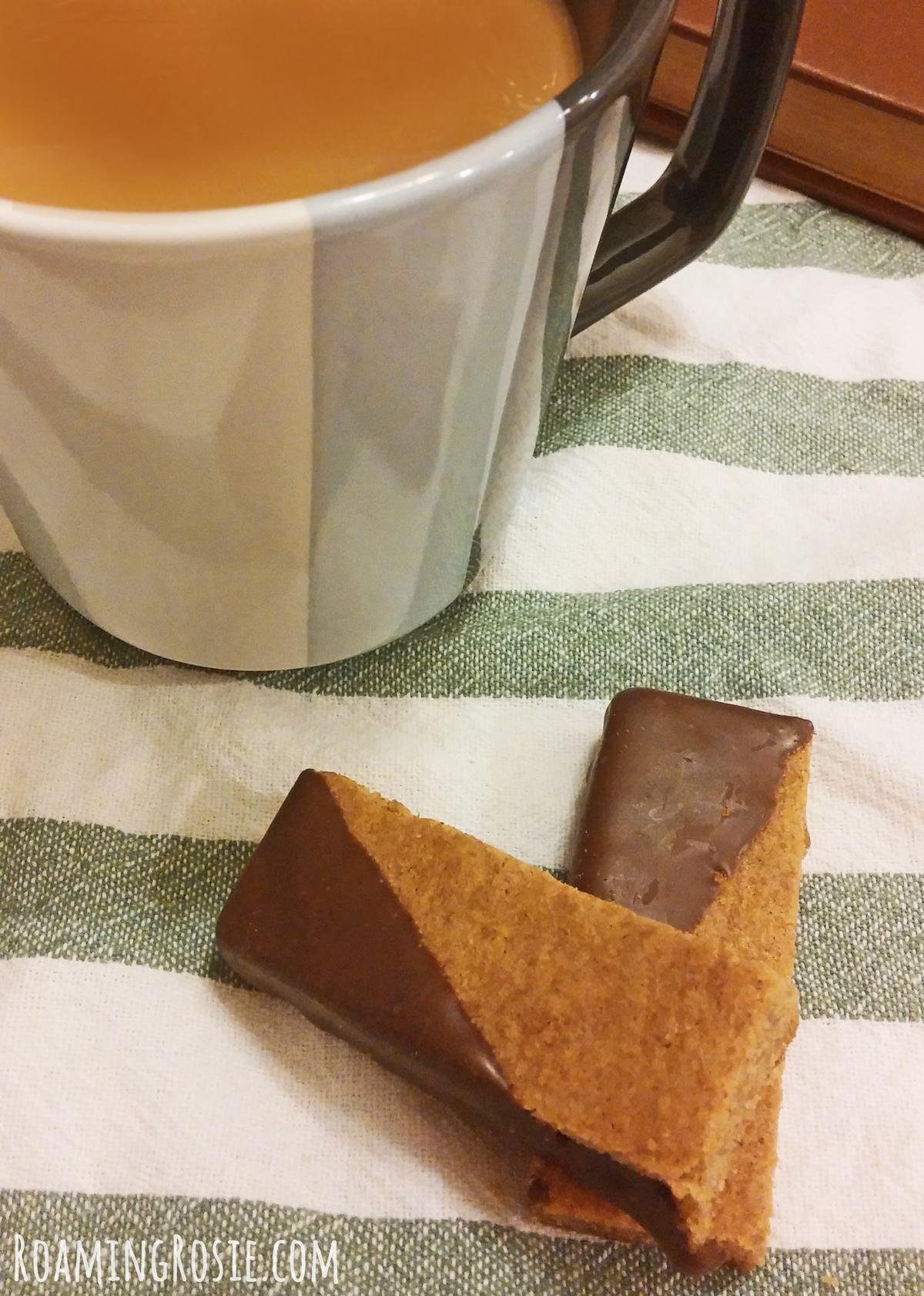 Dark Chocolate Dipped Brown Sugar Cinnamon Cookie Bars 11