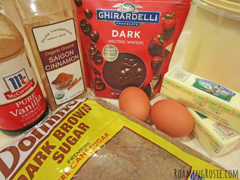 Dark Chocolate Dipped Brown Sugar Cinnamon Cookie Bars