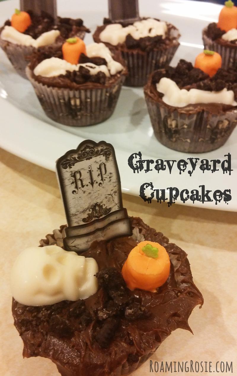 Graveyard Brownie Halloween Cupcakes