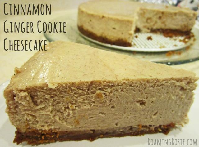 Cinnamon Ginger Cookie Cheesecake Recipe by Roaming Rosie