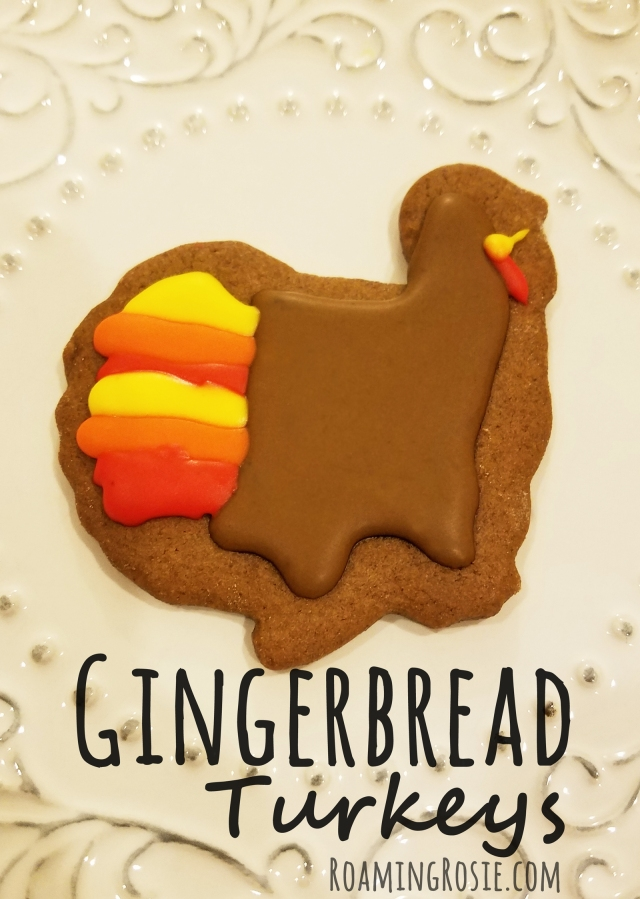 Turkey Gingerbread Cookies