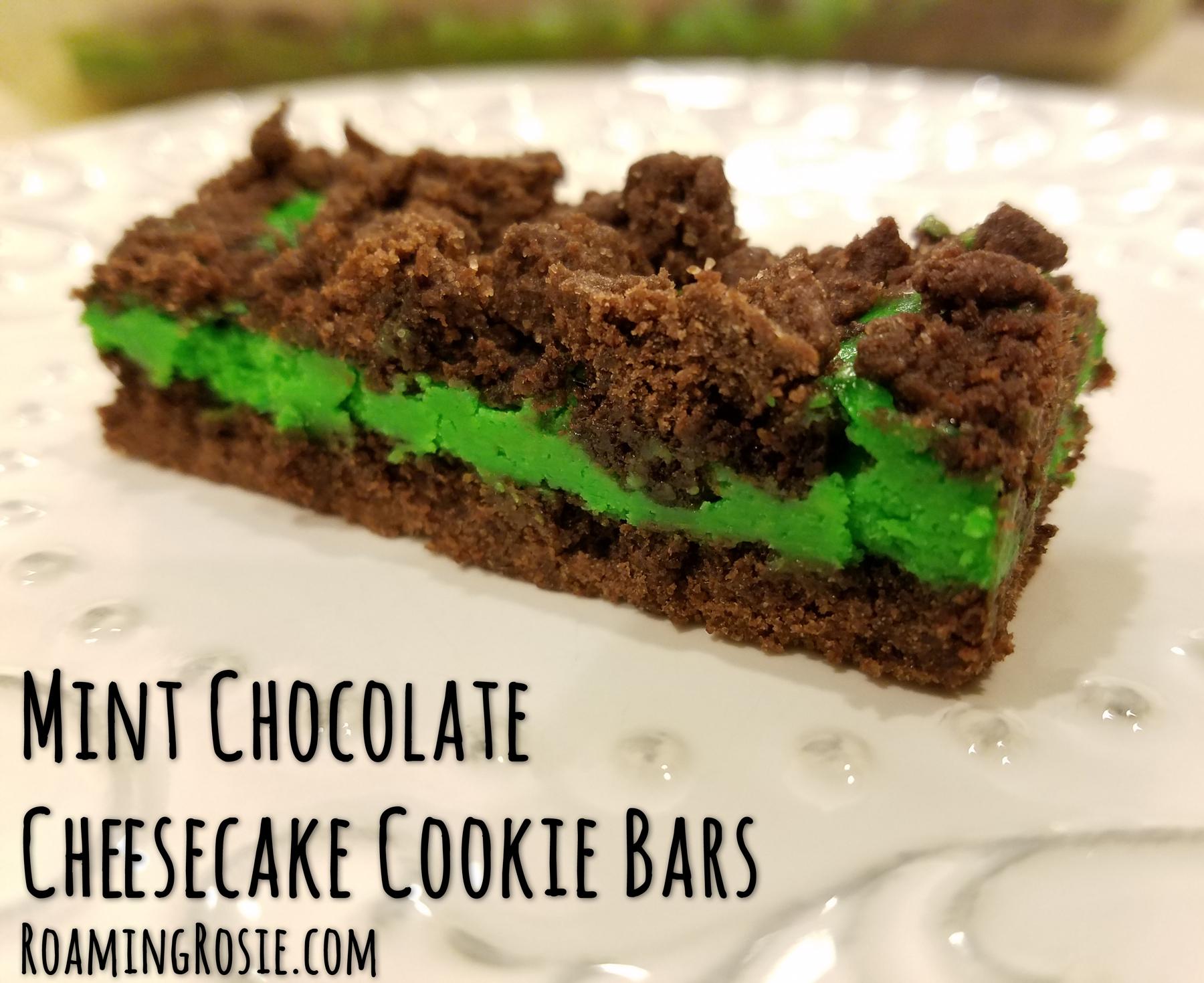 Mint Chocolate Cheesecake Bars