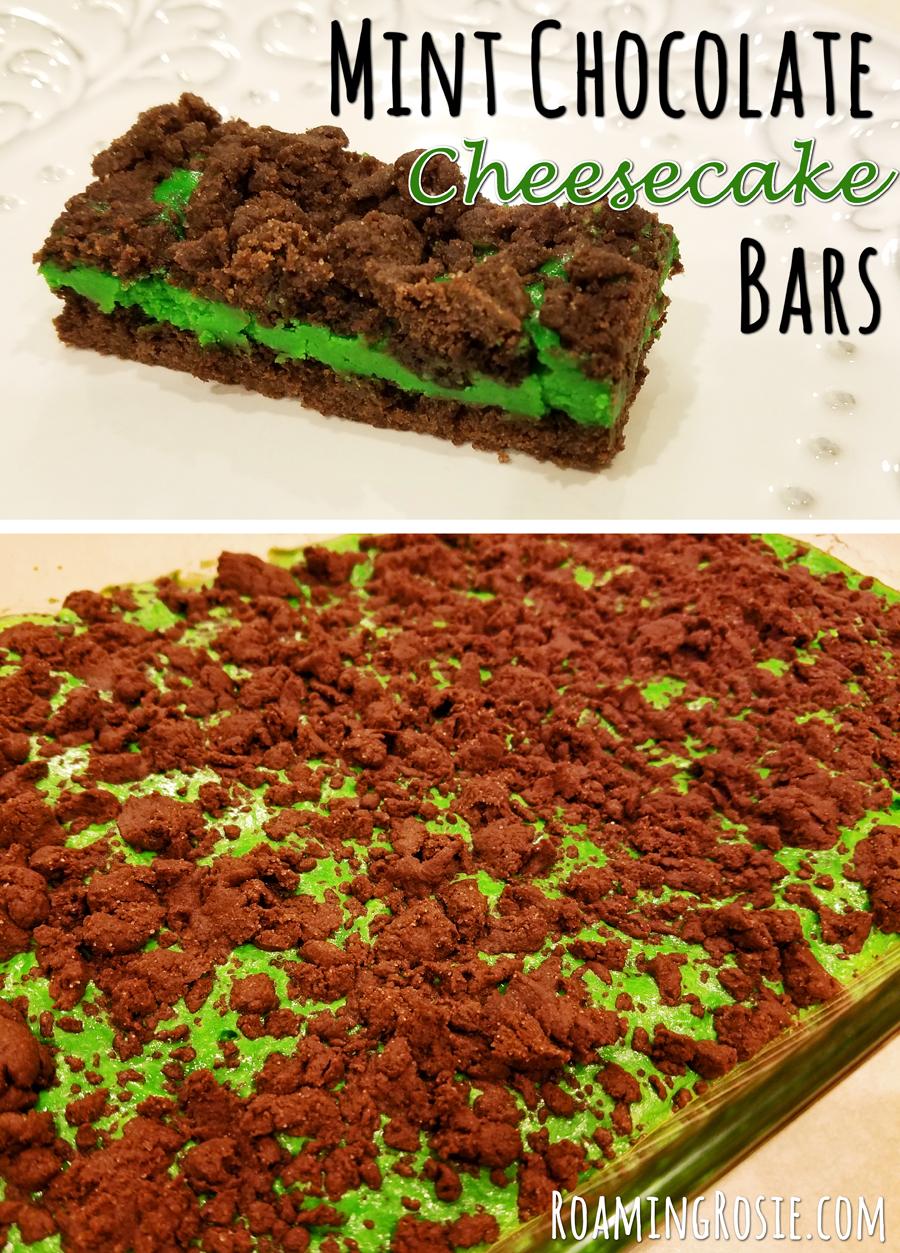 Mint Chocolate Cheesecake Bars 9