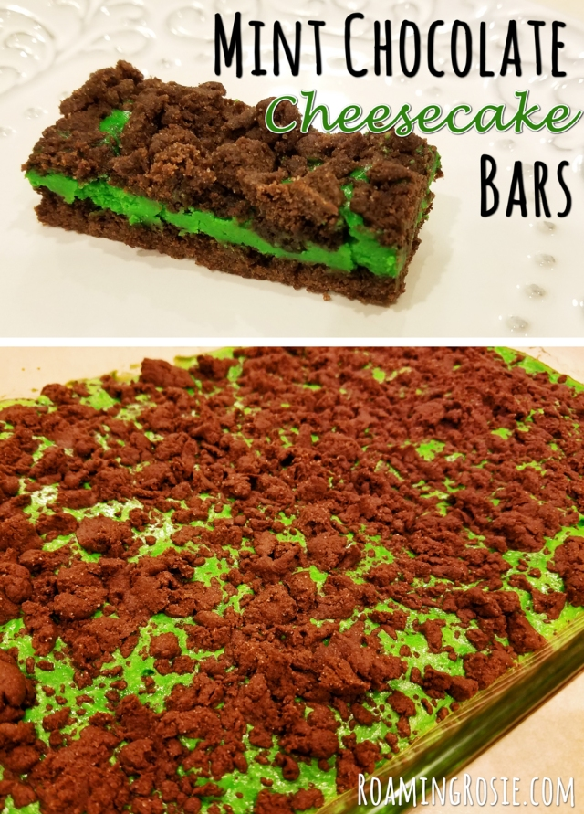 Mint Chocolate Cheesecake Bars 9