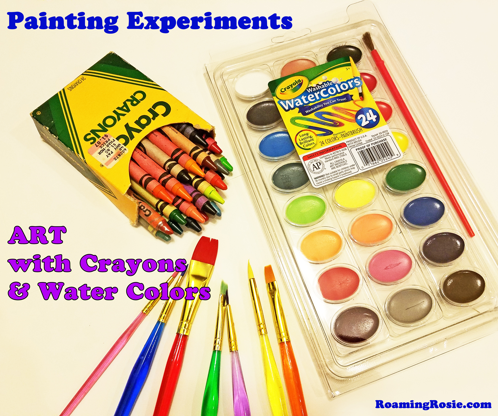 Painting with Crayons and Water Colors 1