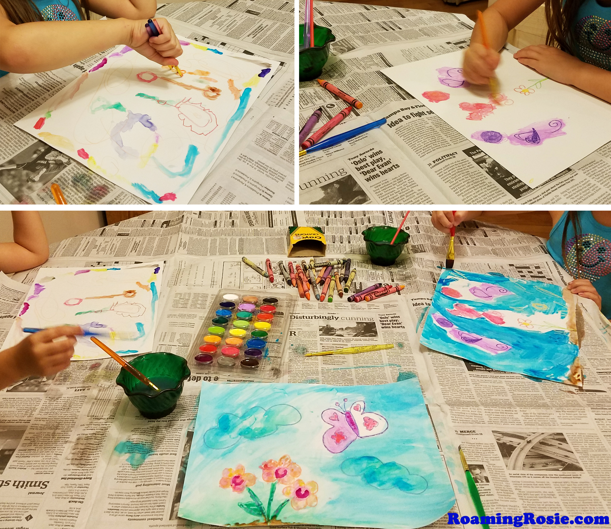 Painting with Crayons and Water Colors 2