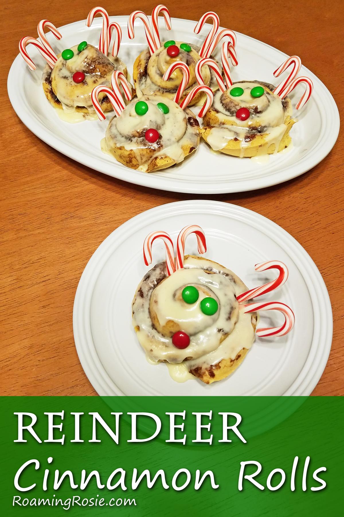 Reindeer Christmas Cinnamon Rolls