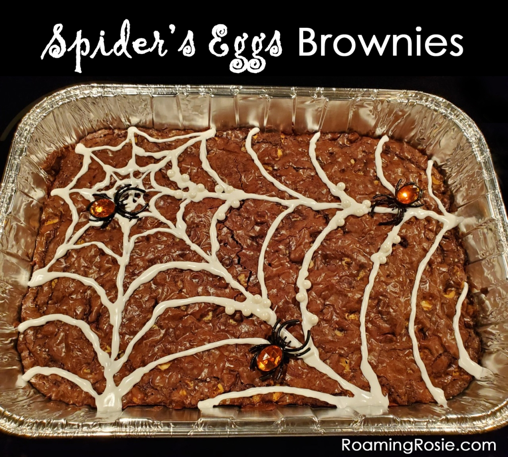 Roaming Rosie Halloween Spiders Eggs Brownies